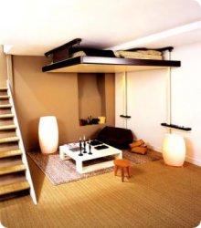 Les astuces pour optimiser l espace d un studio - Lit escamotable plafond occasion ...